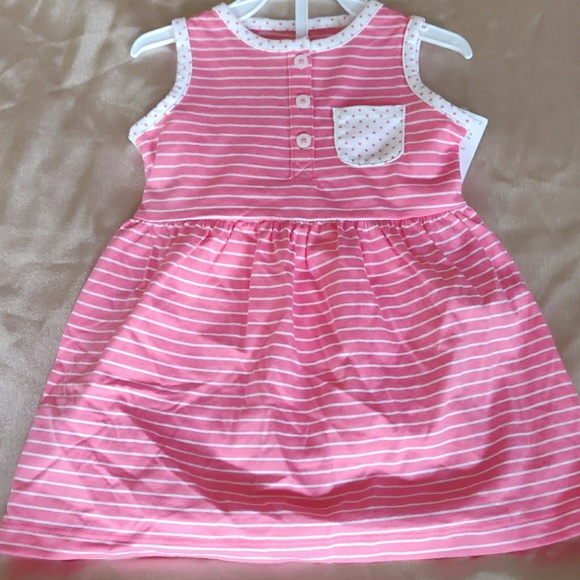 Carter/'s Girls Dress Red or Pink Tulle French Terry Dresses Size 2-12 NWT New